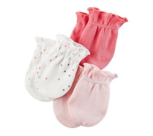 Carter's Baby Girls' 3-Pack Mittens Set