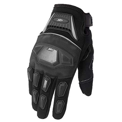 Street Bike Full Finger Motorcycle Gloves ATV Motocross Dirt Bike Off-Road Mountain Bike Gloves (L) ()