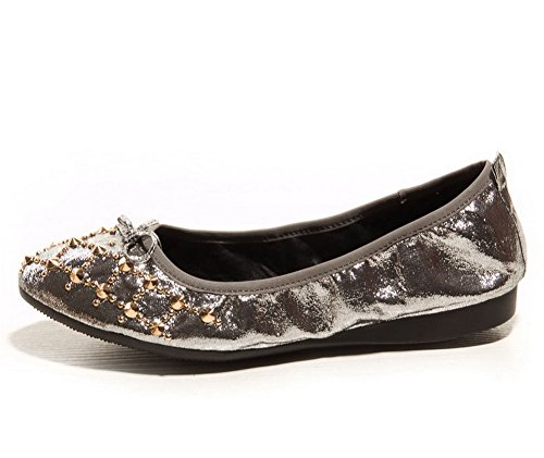 Uréthane Bout Oeillets Pointu Uréthane Casual Chaussures Sdc03673 Womens Antidérapants Mocassins Adeesu Argent SzxwqXUTB