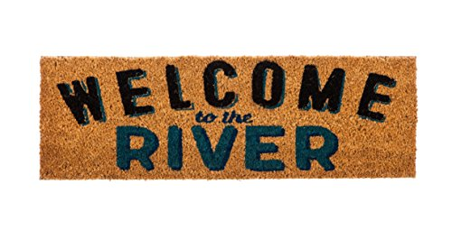 Evergreen Kensington Welcome to the River Natural Coir Interchangeable Switch Mat - 28.25
