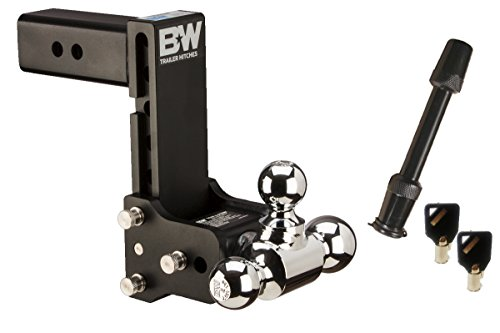 TruckProUSA B&W TS20049B Tow & Stow Receiver Hitch Tri-Ball with 2.5