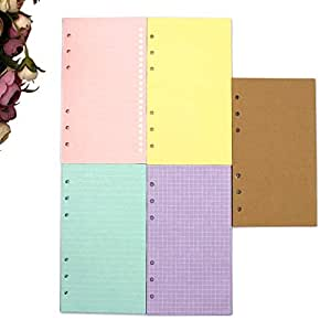 Amazon.com: A5 Hole Punched Refills Inserts Filler Paper ...