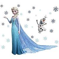 Kibi Väggklistermärken med motiv från Disneys Frost för barnrum, väggklistermärken, barn, Disney Frozen, väggkonst…