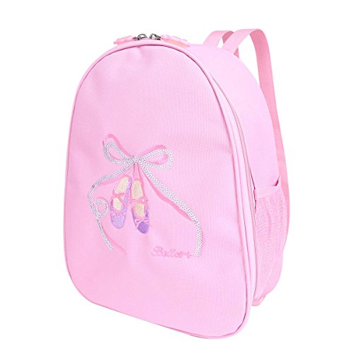 Dance Embroidered Tote (iixpin Kids Girls Embroidered Shoulder Bag Dance Ballet School Gym Backpack Pink One size)