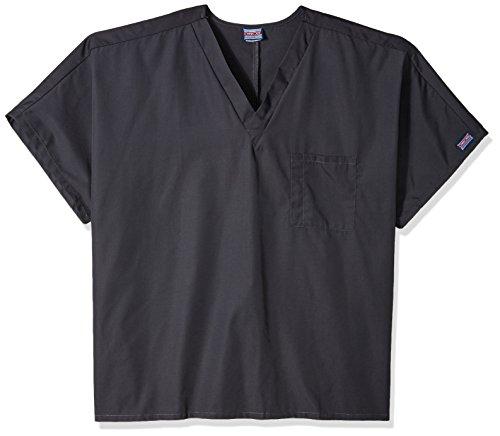 Cherokee Big and Tall Originals Unisex V-Neck Scrubs Shirt, Pewter, XXXXX-Large