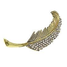 Changeshopping(TM)New Korean Women Rhinestone Leaves Hairpin Hair Accessories Headdress (Gold)