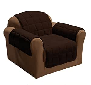 Innovative Textile Plush Chair Furniture Protector, Chocolate