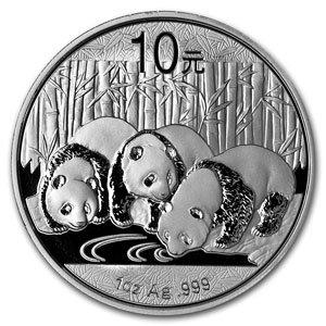 (2013 China 1 oz Silver Panda Coin 10 YUAN Brilliant Uncirculated)