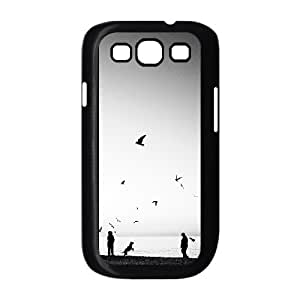 Case for Samsung Galaxy S3, Walking the Dog Case for Samsung Galaxy S3, Naza Black