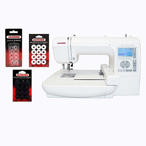 Janome janome memory craft 200e embroidery machine with for Janome memory craft 200e