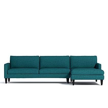 Amazon.com: Formosa 2-Piece Sectional Sofa, Chicago Blue ...