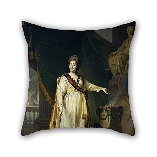 Artistdecor Oil Painting Dmitry Levitsky - Portrait Of Catherine II The Legislatress In The Temple Of The Goddess Of Justice Cushion Cases 18 X 18 Inches / 45 By 45 Cm Best Choice For Study (Goddess Costume Diy)