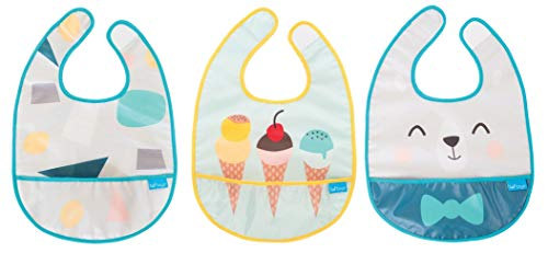 (Taf Toys Bib Set, Baby Bib, Waterproof, Washable, Stain and Odor Resistant, The Ultimate Protection from Drools & Spit Ups. 0-24 Months, 3-Pack )