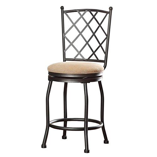 HomePop Tristan Swivel Counter Height Stool