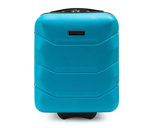 WITTCHEN Reisekoffer Trolley 17 Koffer Bordgepäck Handgepäck Blau Abmessungen: 32 x 25 x 42 cm Kapazität: 25 L Gewicht: 2 KG ABS 56-3A-281-90