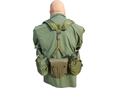Lbe Harness - USGI Fighting Load Harness with Canteens, Mag Pouches, and E Tool