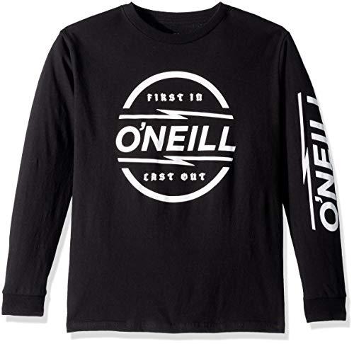 O'Neill Boys' Big Premium Fit Logo Long Sleeve T-Shirt, Striker Black, M