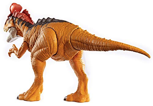 Jurassic World Sound Strike Cryolophosaurus Figure with Strike and Chomping Action, Realistic Sounds, Movable Joints, Authentic Color and Texture; Ages 4 and Up