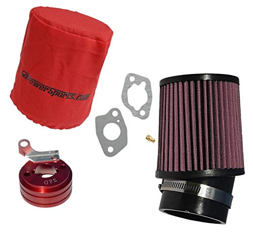 GoPowerSports 212cc Predator Performance Air Filter, Adapter & Upgrade Jet