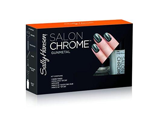 Sally Hansen Salon Chrome Large Kit, Gunmetal, 5 Count