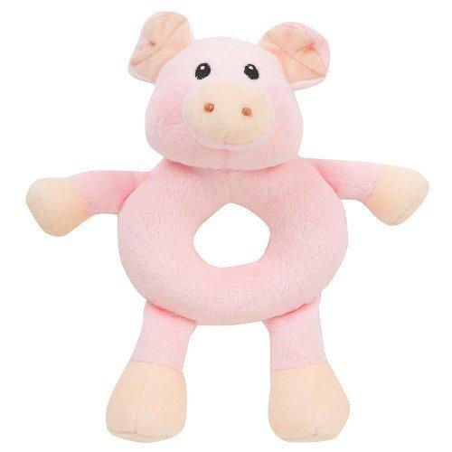 Pig Rattle - Babies R Us Plush Farm Animal Rattles - Pig