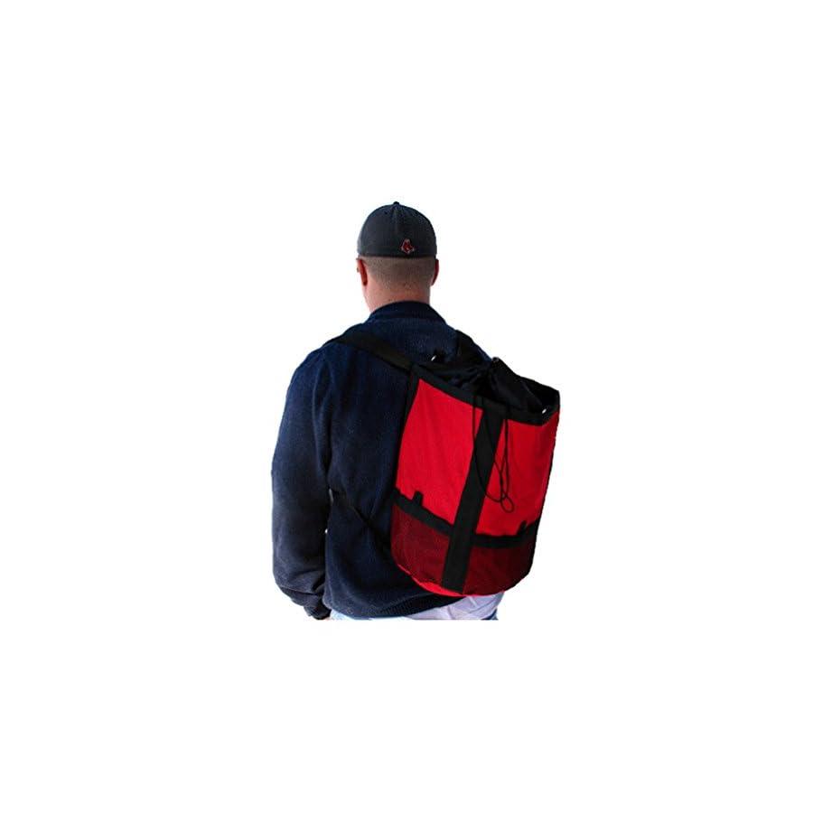 Heavy Duty Rope Bag Backpack 15 Liter RED