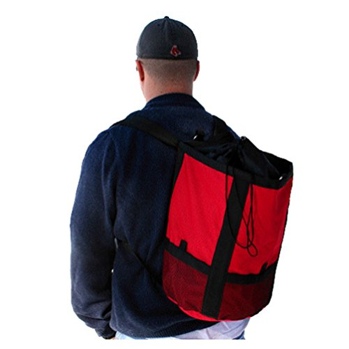 Heavy Duty Rope Bag Backpack 15 Liter RED