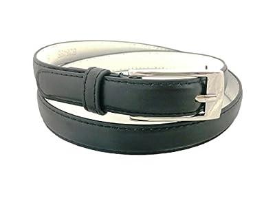 Solid Color Leather Adjustable Skinny Belt for Women's