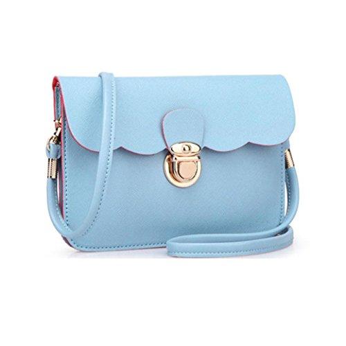 Messenger Shoulder Women's Purse Fulltime Clutch Blue TM Bag Handbag Tote Hobo Leather t6qvxa