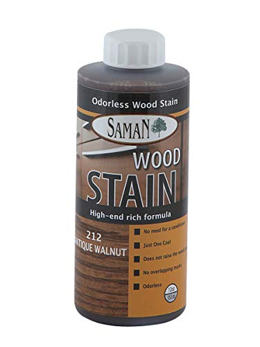 (SamaN Interior Water Based Stain for Fine Wood, Antique Walnut, 12 oz)