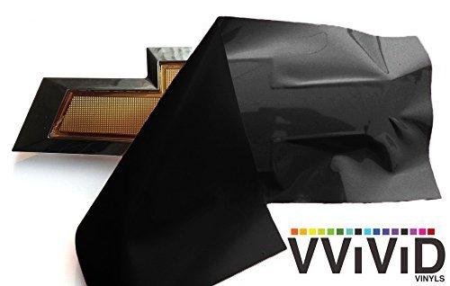 VViViD XPO Matte Black Chevy Bowtie Logo Wrap Kit (2 rolls (11.8