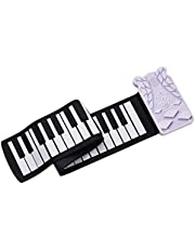 Taşınabilir 49 tuşlu Roll-up Elektronik Piyano Klavyesi 8 Ton 6 Demo Kayıt Fonksiyonu Yankılı Dahili Hoparlör Trill Etkisi 3,5 mm Çıkış Dahili Pille MAYIO