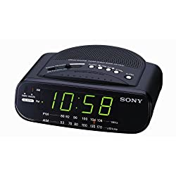 OVERSEAS USE ONLY Sony ICF-C212 Dream Machine FM/AM Alarm Clock Radio with (ACUPWR (TM) Plug Kit - Lifetime Warranty) (220Volt Will Not Work in the USA)