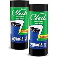 Sanita Club 50 Gallon Roll Garbage Bag, 2 x 20 Bags