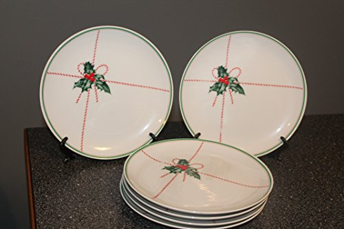 Toscany Collection Japan- (SET of 5 ) Ivy Holly Berry Christmas Dessert/Salad Plates 7 1/2