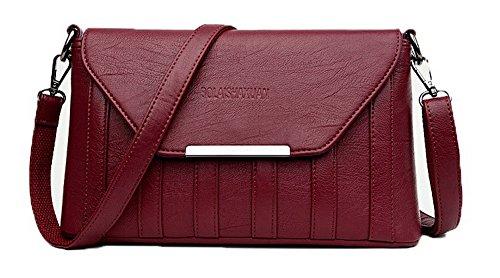 Voguezone009 Della Di Ccaybp180835 Donne Incrociate Spesa Rosso Borse Dell'unità Elaborazione Cerniere Delle rxUYrwqCZ