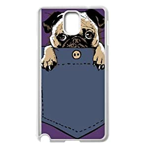 Samsung Galaxy Note 3 Cell Phone Case White Pugturday