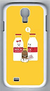 meilz aiaiSamsung Galaxy S4 Case Customized Unique Yellow Simple Lovely Milk Bottles Cover For Samsung Galaxy S4 I9500meilz aiai