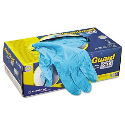 KIMBERLY-CLARK PROFESSIONAL KLEENGUARD G10 Blue Nitrile Gloves, Powder-Free, Blue, X-Large - Includes 90 gloves.