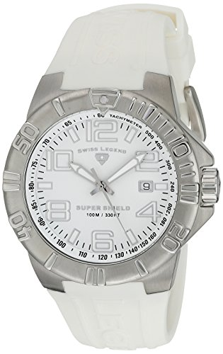 Swiss Legend Men's 40117-02 Super Shield White Dial Watch