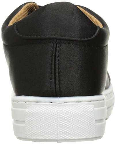 Qupid Dames Reba-161c Fashion Sneaker Zwart Satijn