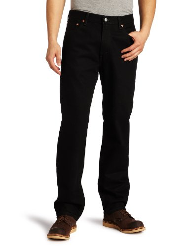 Levi's Men's 550 Relaxed Fit Jean, Black, 36x32