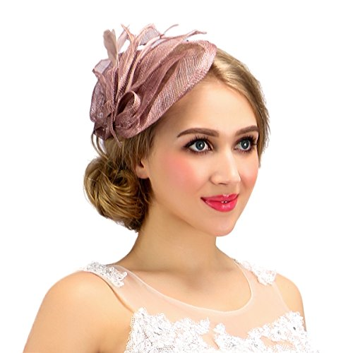 Valdler Women Cambric Mesh Retro Fascinators Suitable for All Hair Style