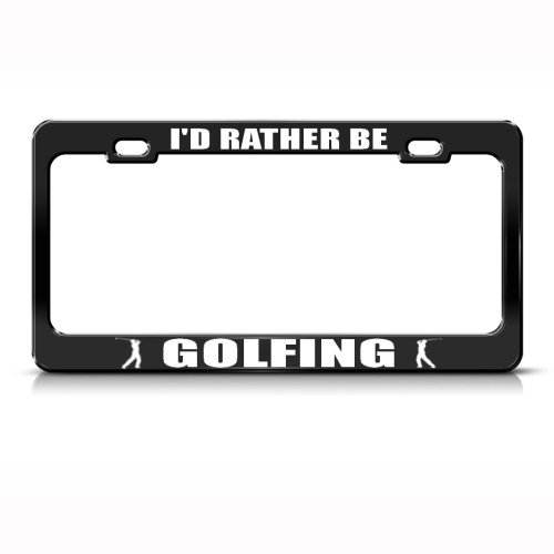 RATHER GOLFING License Plate Holder product image