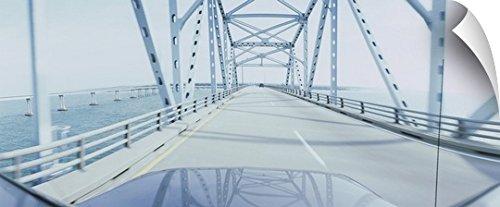 Chesapeake Bay Bridge (Canvas On Demand Wall Peel Wall Art Print entitled Suspension bridge viewed through a car, Chesapeake Bay Bridge, Outer Banks, North Carolina 36