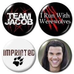 (Team Jacob Twilight Mini Buttons/pins/badges (Aprox 1