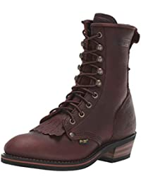 Girls Chestnut Packer Boot Tumble Leather Chore, Brown, 12 M US