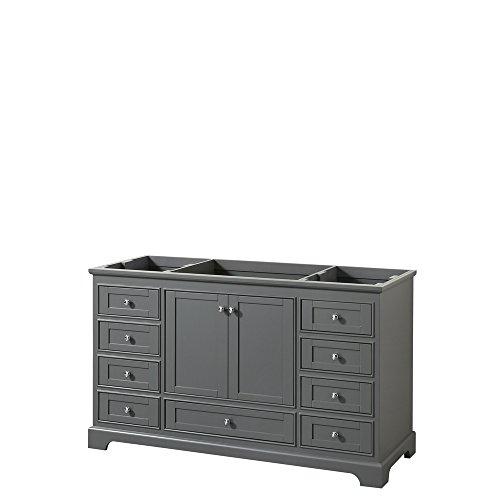 CS202060SKGCXSXXMXX Deborah Single Vanity Cabinet, No Countertop, No Sink, and No Mirror, 60