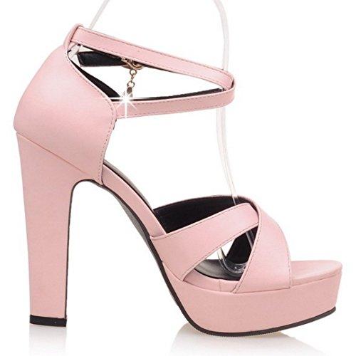 mujer Rosado Zapatos Coolcept tacón con xqvndRtwY