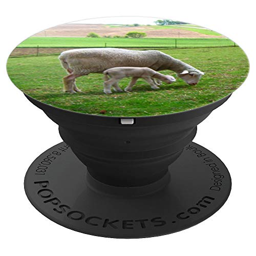 - Baby Lamb Mama Sheep Spring Farm Photo Animal Lover Gift - PopSockets Grip and Stand for Phones and Tablets